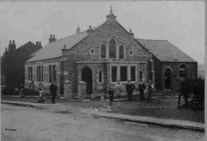 The church building around 1908